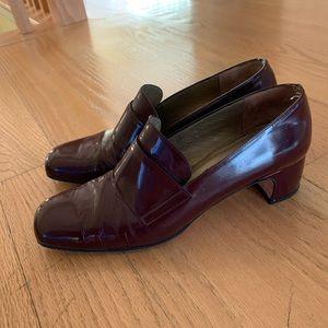 Vintage burgundy Yves Saint Laurent heels